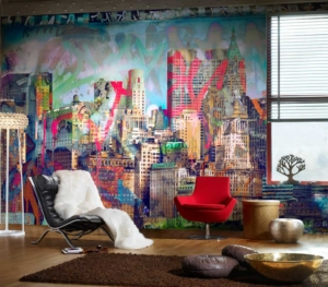 Customised Wallpaper Graffiti City